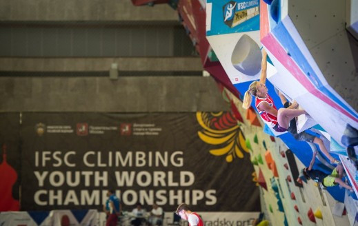 Bouldering finals took place today at the Youth World Championships ©IFSC/Leonid Zhukov
