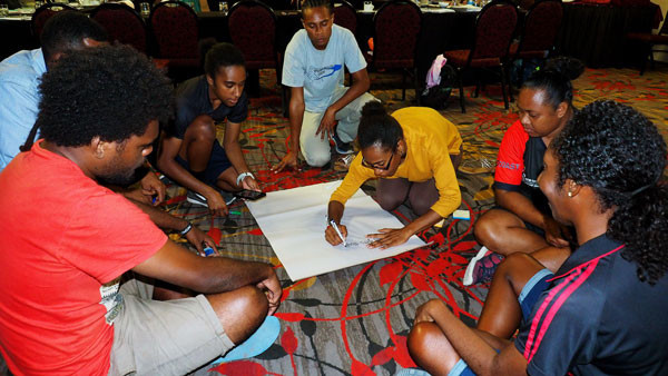 The course leads to work on the Olympic Values Education Programme ©PNGOC