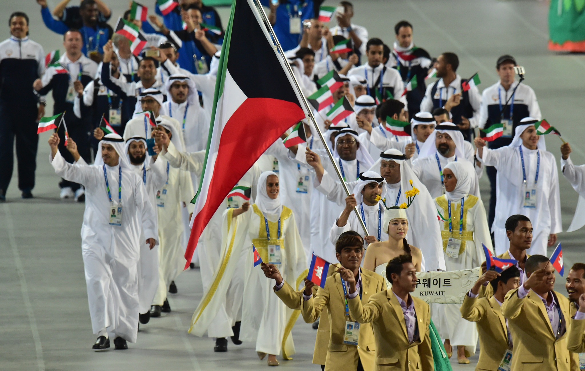 A ban on Kuwait has been lifted by the International Olympic Committee, allowing them to compete under their own flag at the Asian Games ©Getty Images