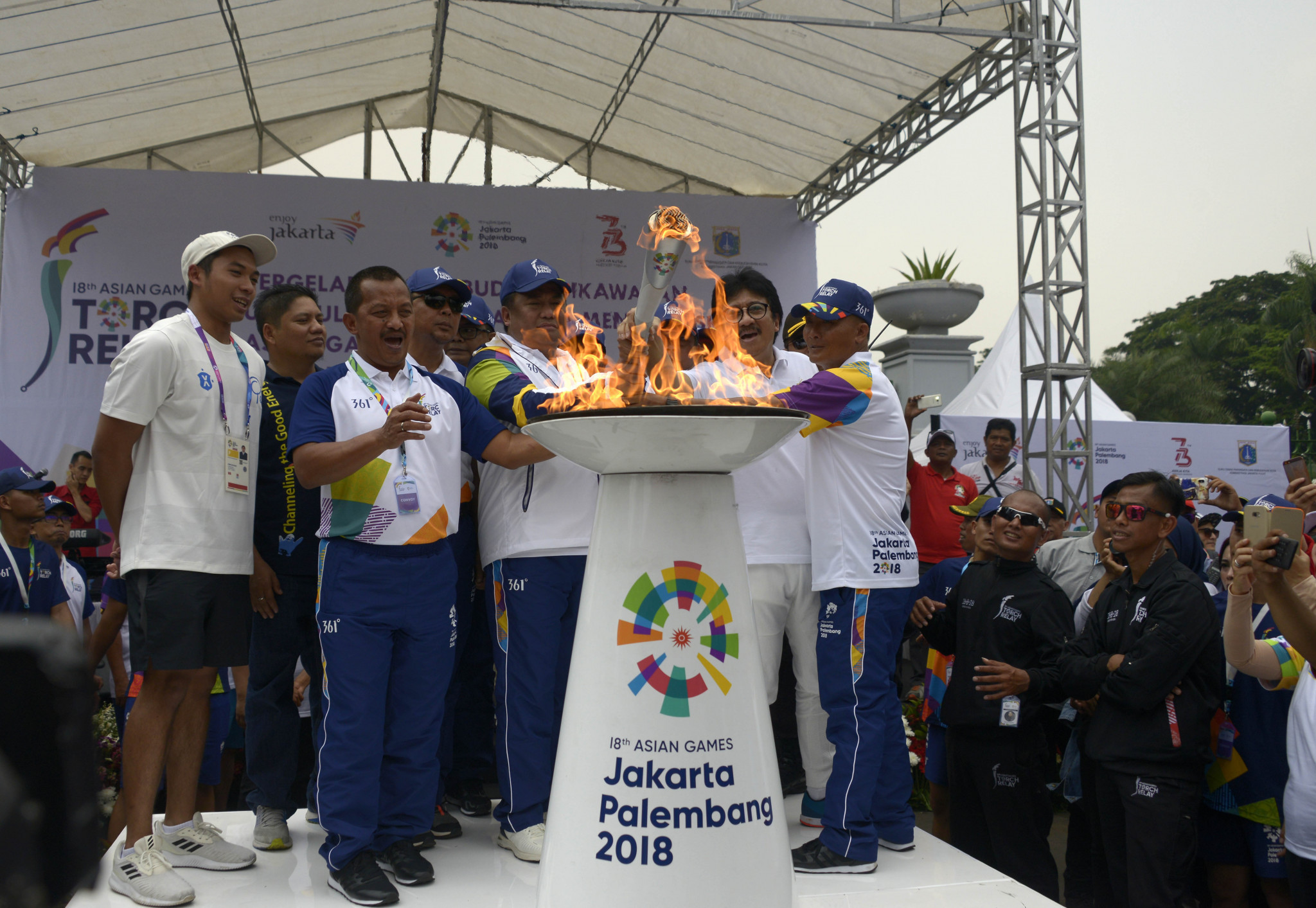 Asian Games Torch Relay arrives in Jakarta prior to Opening Ceremony