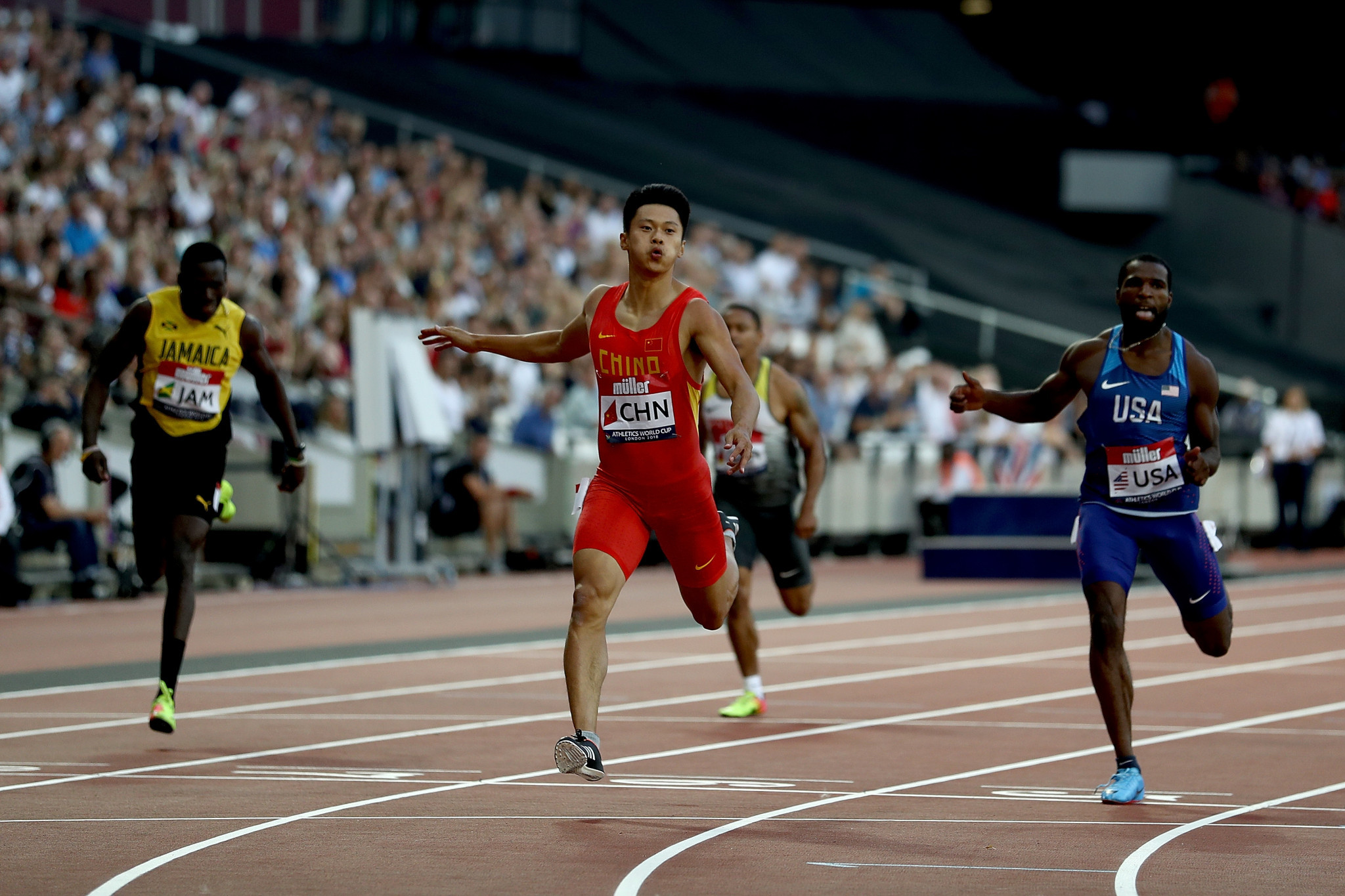 Chinese sprinter Xie Zhenye is among high-profile athlete to withdraw from the Asian Games ©Getty Images