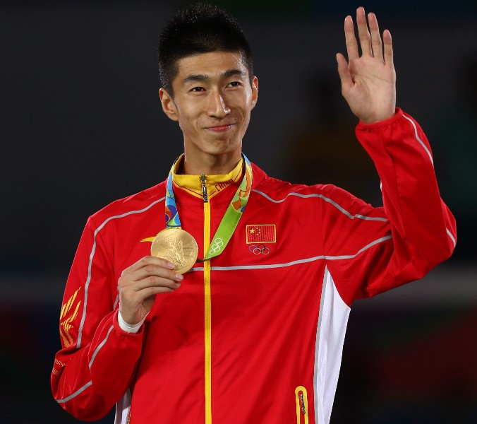 Olympic taekwondo champion Zhao Shuai will carry the Chinese flag at the Opening Ceremony of the Asian Games ©Getty Images