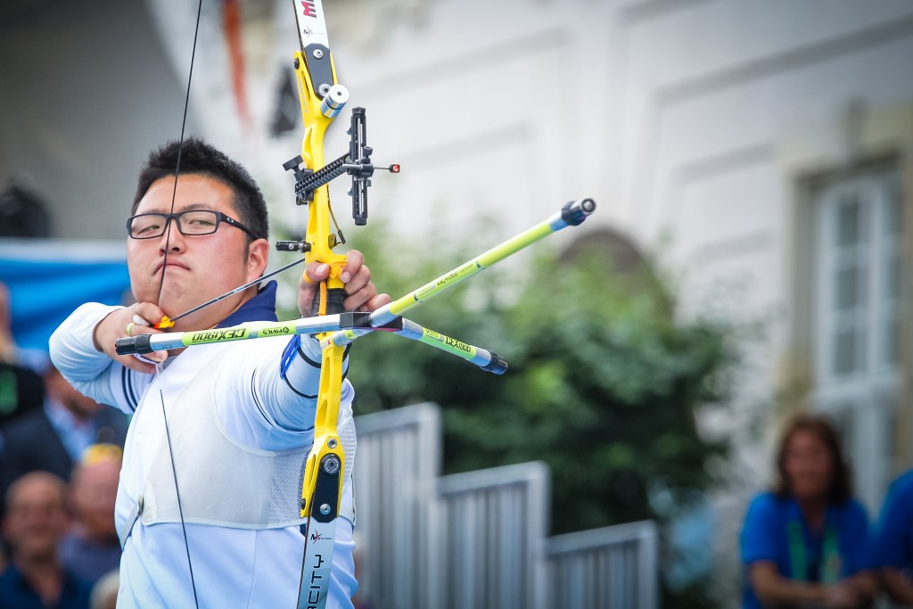Kim Woojin takes individual gold at Rio 2016 archery test event