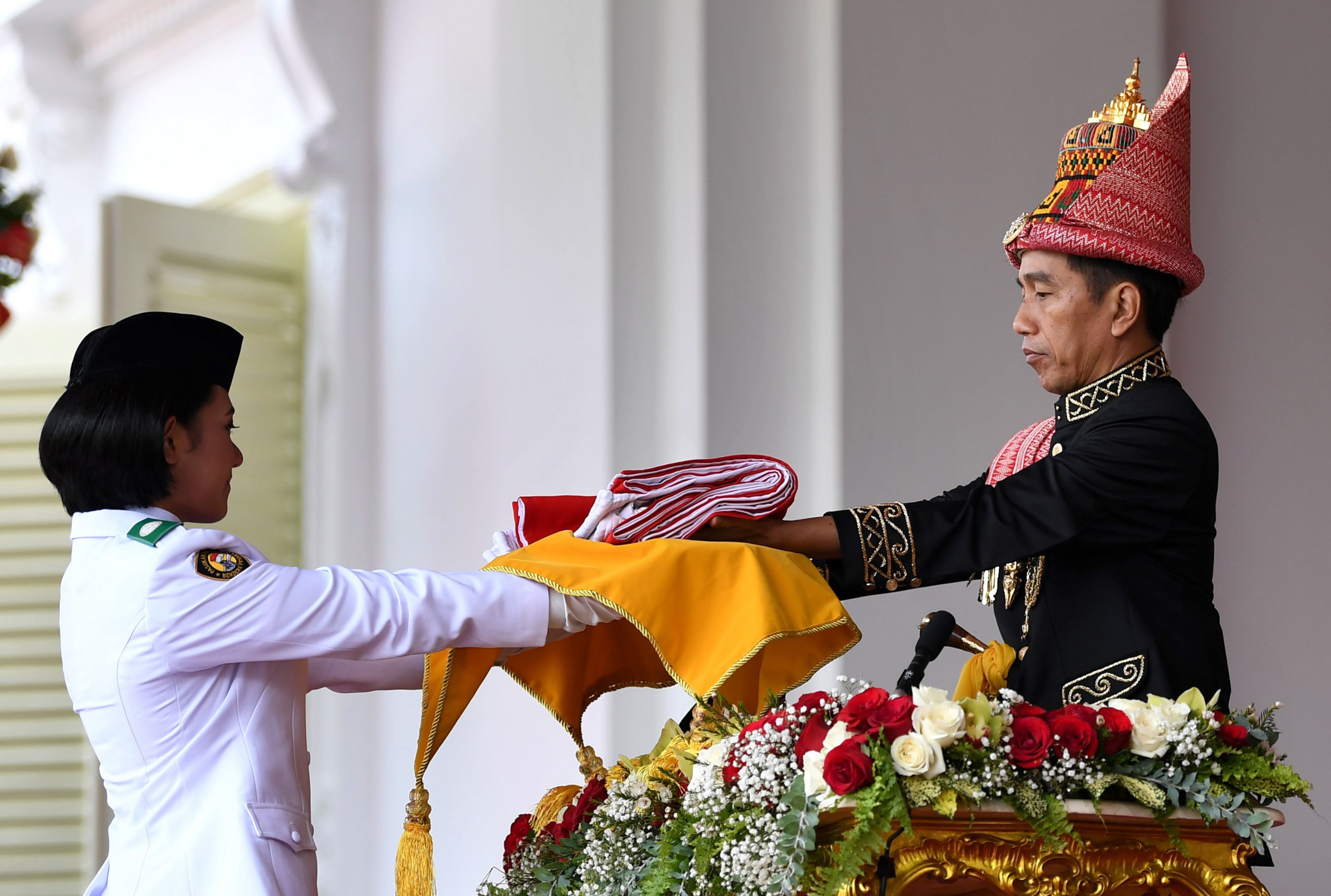 Widodo had earlier taken part in a ceremony at Jakarta's Presidential Palace to mark Indonesia's 73rd Independence Day ©Getty Images
