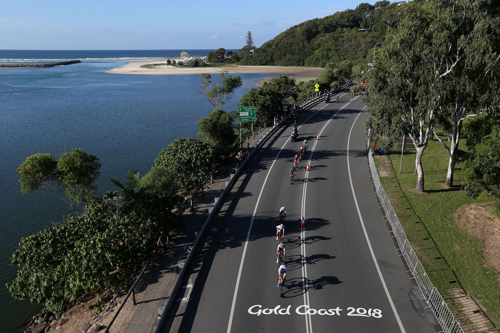 Cycle road races at this year's Commonwealth Games were used as an opportunity to showcase the Gold Coast ©Getty Images