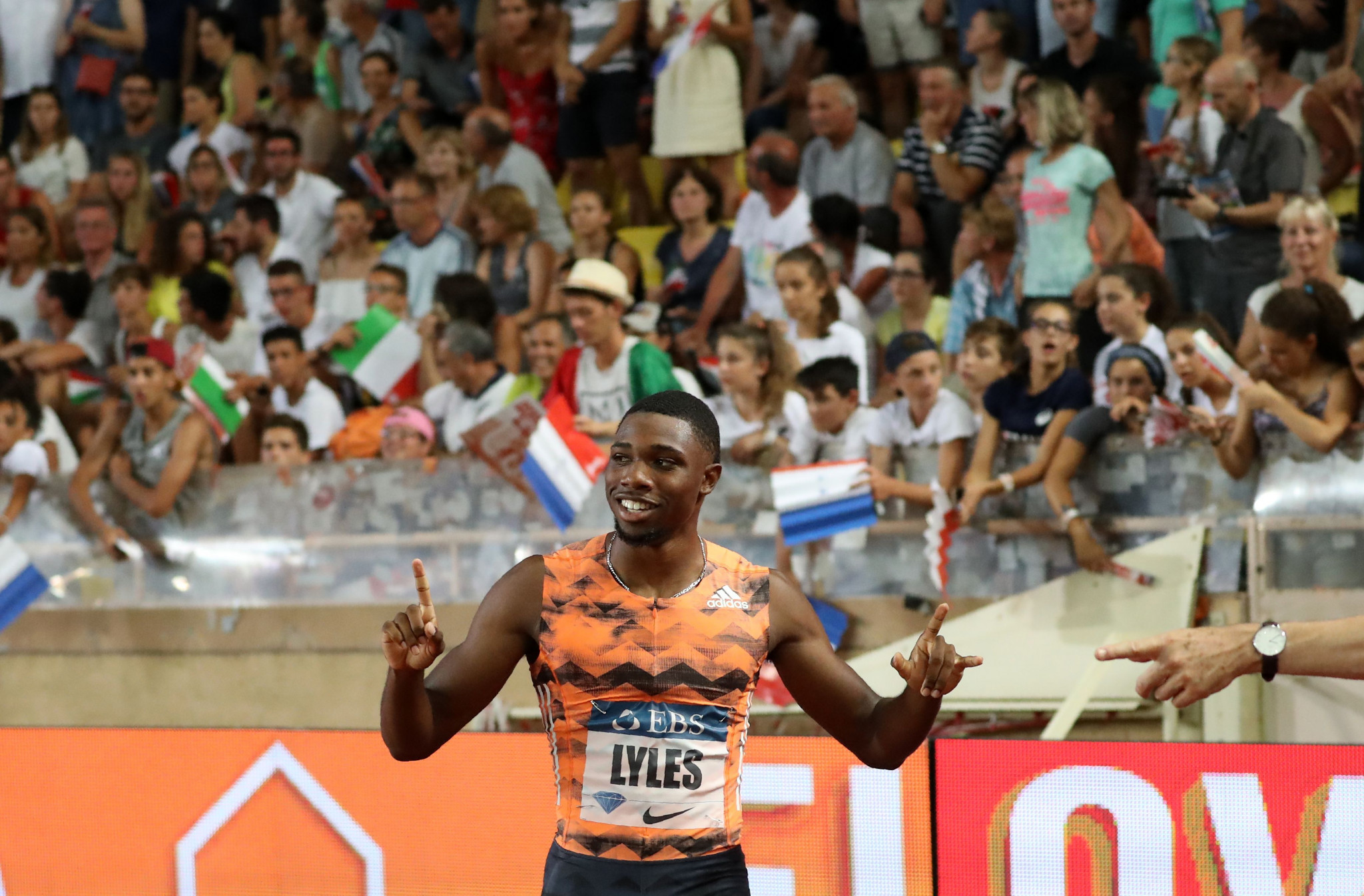 Noah Lyles, joint leader of this year's world 100m rankings with 9.88sec, meets US compatriot Christian Coleman in an eagerly-anticipated race ©Getty Images