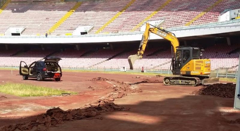 Naples 2019 sign deal for renovation work at San Paolo Stadium