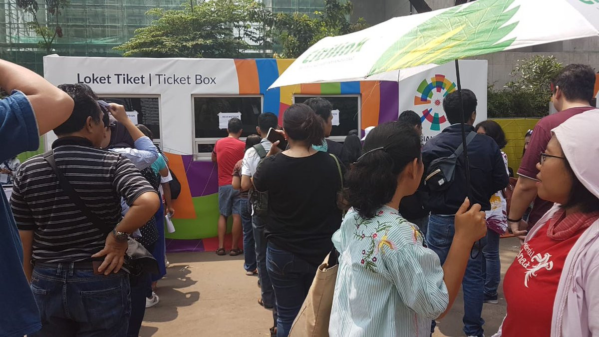 There has been anger and confusion over ticketing arrangements for the 2018 Asian Games ©Twitter