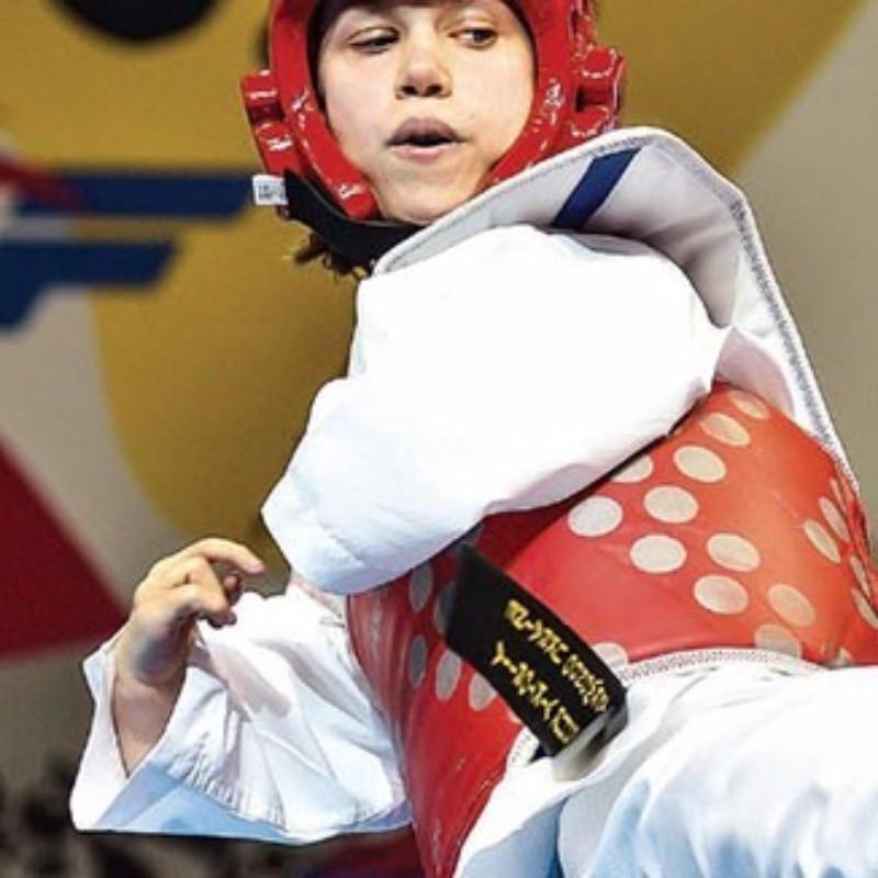 Ukraine's Viktoria Marchuk pictured in action ©WTF