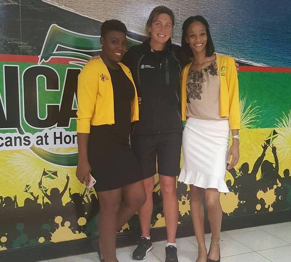 Former New Zealand international Irene van Dyk, centre, held coaching clinics in Jamaica ©Facebook/Netball Jamaica