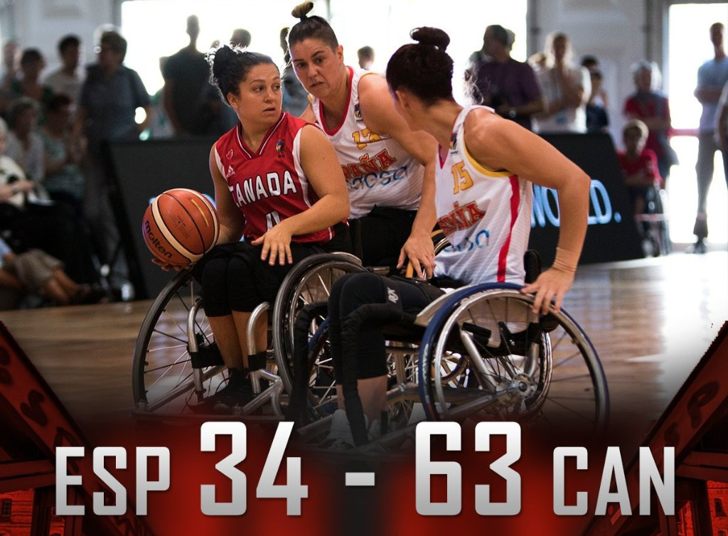 Canada bounce back from surprise defeat at Wheelchair Basketball World Championships