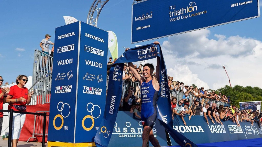 Gustav Idem emerged as the winner of the men's event ©ITU