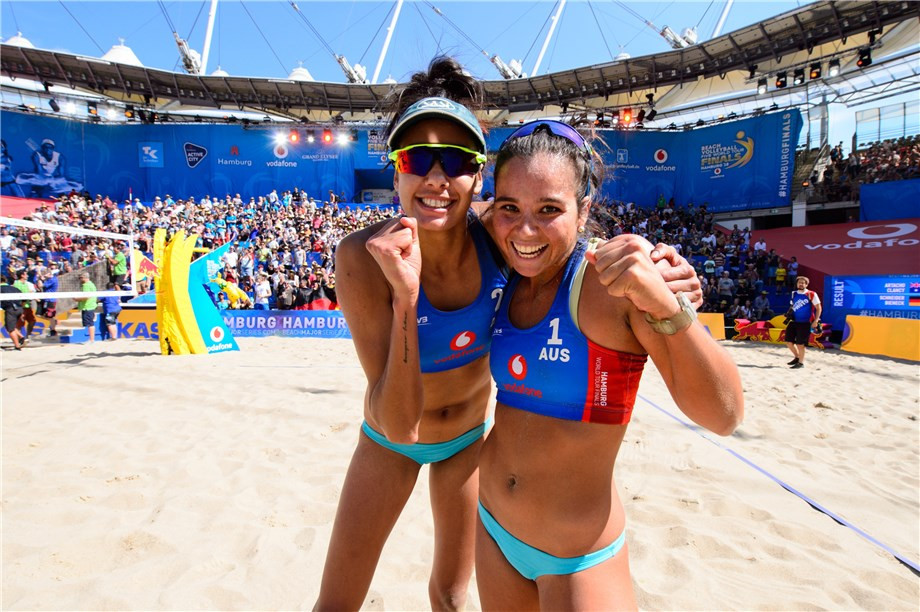 Australia's Commonwealth Games silver medallists Mariafe Artacho and Taliqua Clancy will meet second-seeds Barbora Hermannova and Marketa Slukova of the Czech Republic in the first of the women's semi-finals ©FIVB