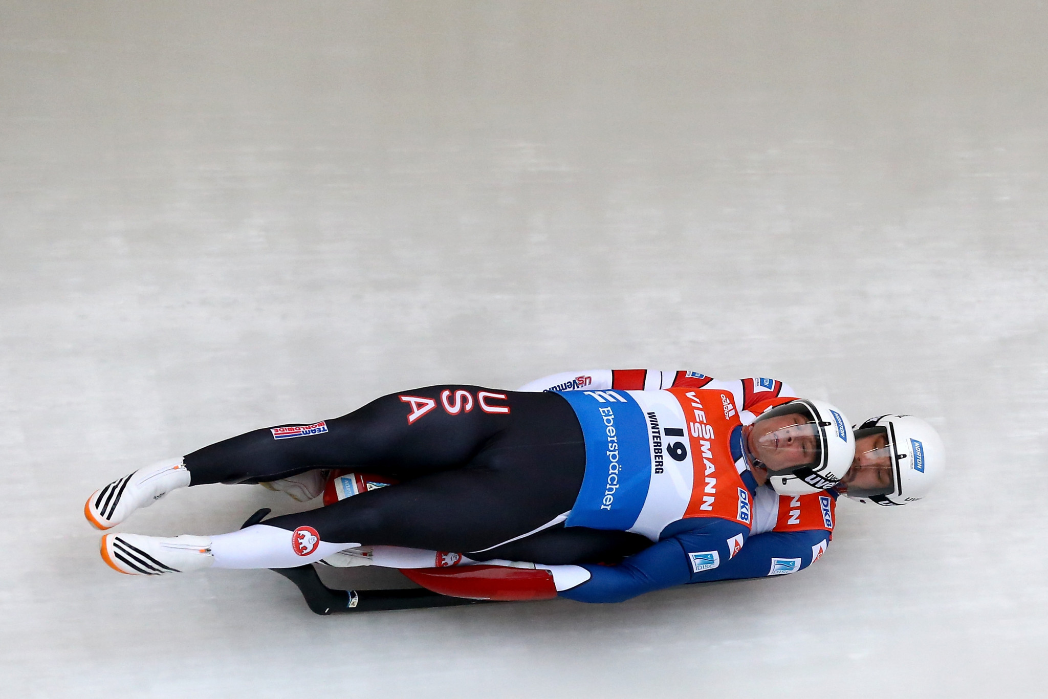 Jayson Terdiman, right, will be involved in the USA Luge slider search event in his hometown in Pennsylvania ©Getty Images