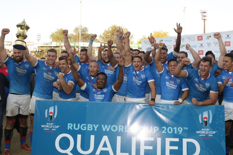 Namibia earned qualification to the Rugby World Cup ©APO Group