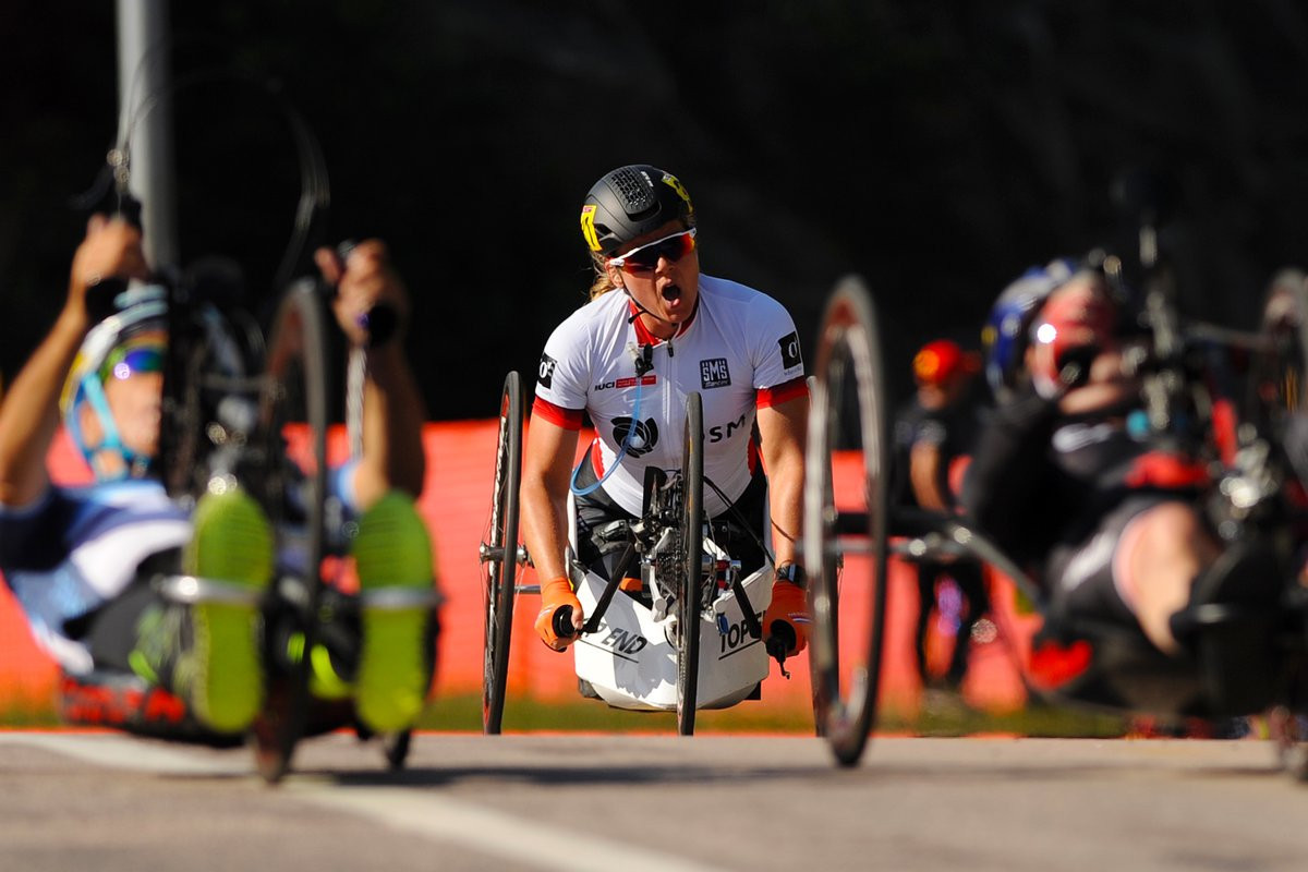 Dana adds road race success to time trial victory at UCI Para Cycling Road World Cup in Québec