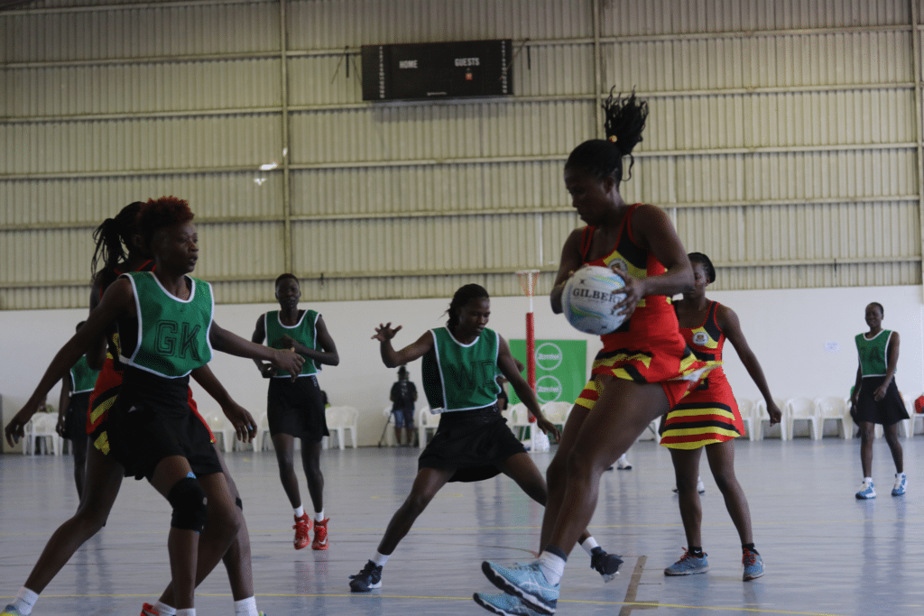 Kenya on the ball against eventual winners Uganda in the Africa qualifiers for the 2019 Netball World Cup ©Netball.org