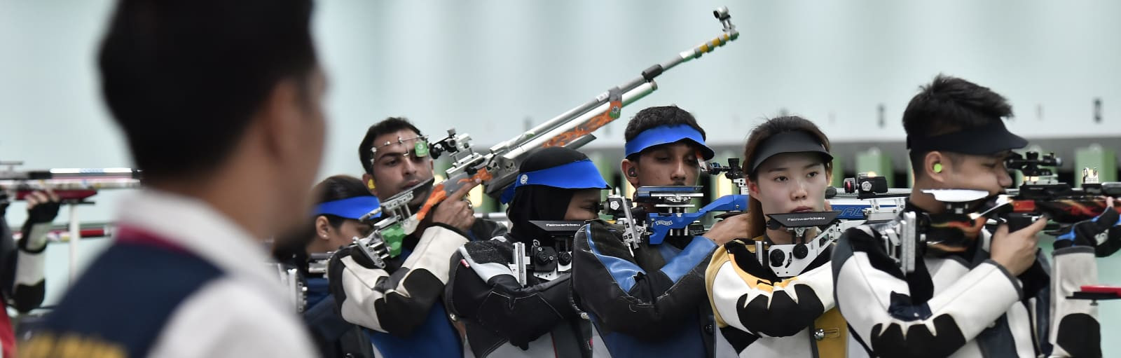 Two gold medals were won today in shooting ©Asian Games 2018