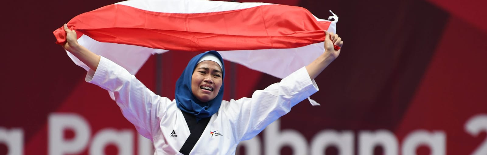 Taekwondo player Defia Rosmaniar secured Indonesia's first gold medal of the 2018 Asian Games in Jakarta ©Asian Games 2018