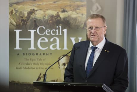 Australian Olympic Committee President John Coates helped launch the book Cecil Healy - A Biography during a special ceremony in Sydney ©AOC
