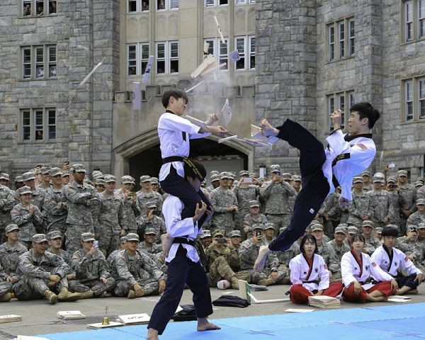 WTF taekwondo demonstration team continues North American tour at United States Military Academy