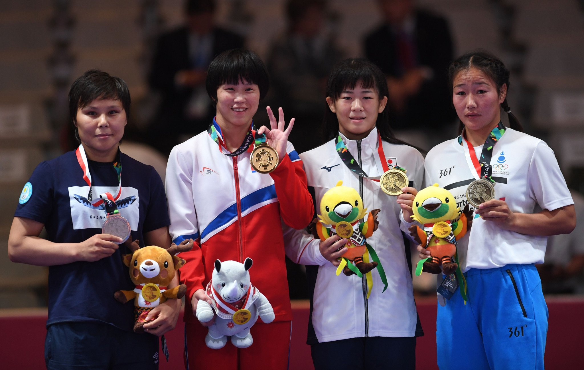 There was also success for North Korea in women's freestyle wrestling today with Pak Yong Mi topping the 53kg podium ©Getty Images