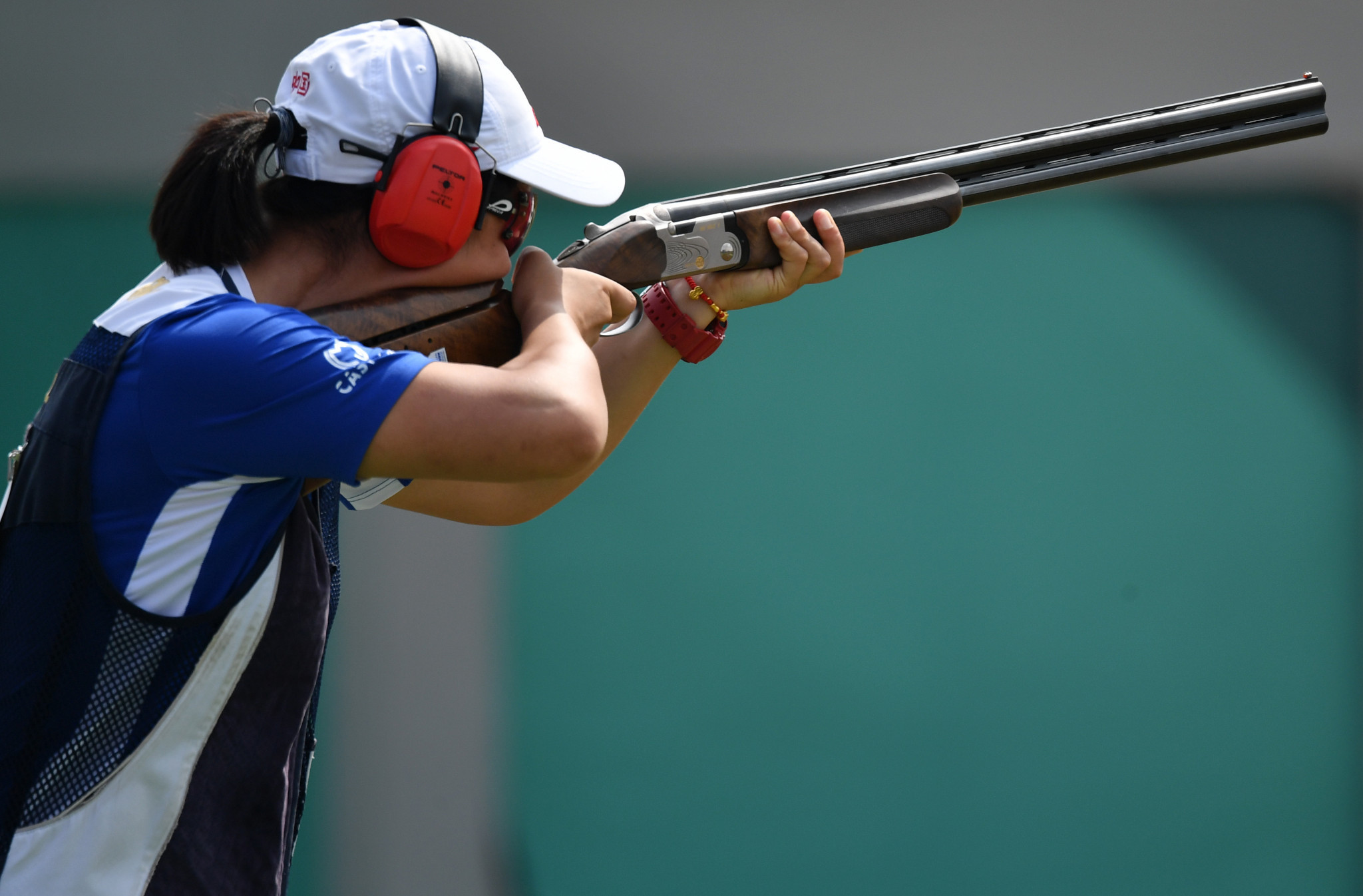 China's Zhang Xinqiu equalled the Asian record on her way to winning the women's trap shooting competition ©Getty Images