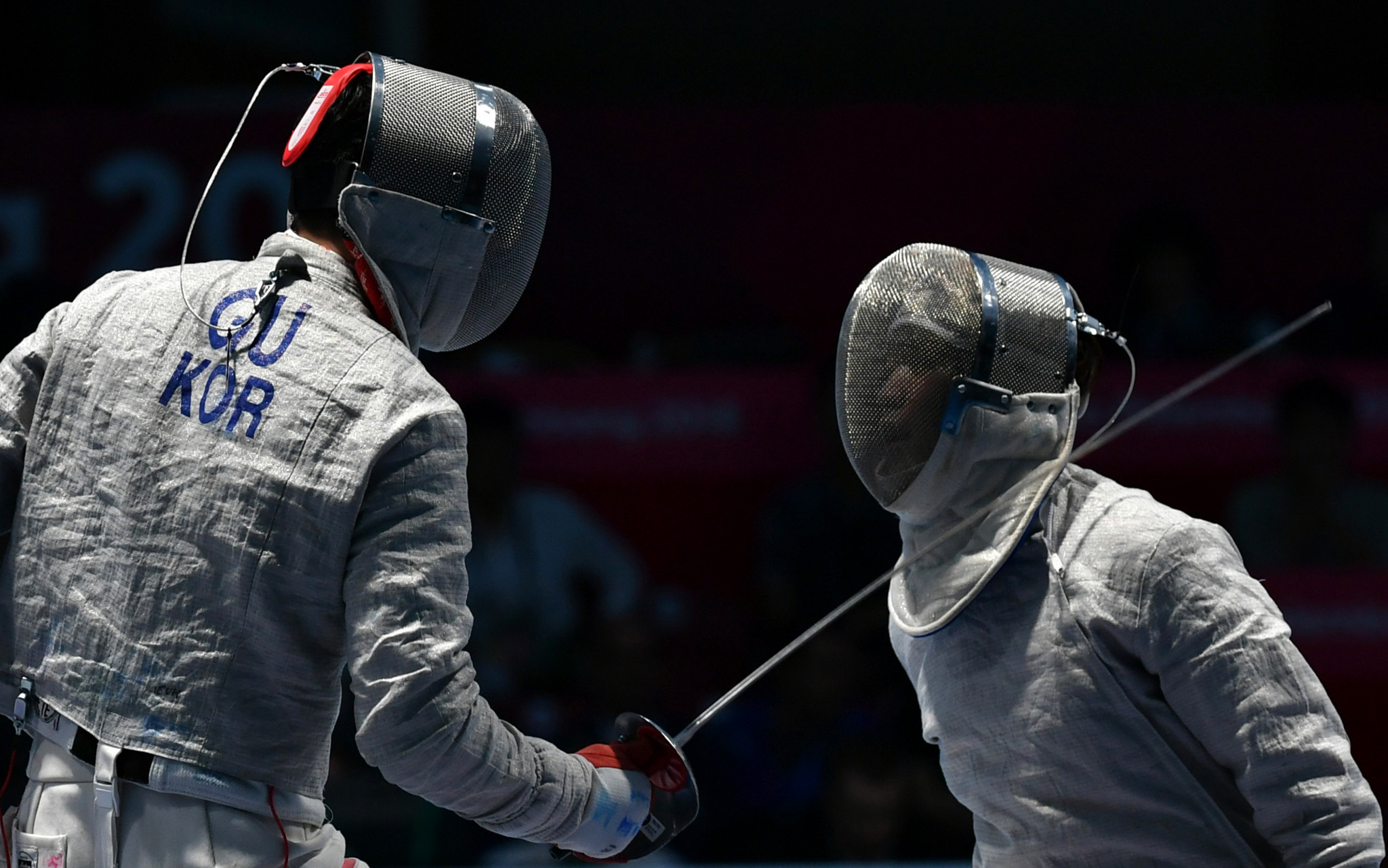South Korean fencer Gu Bongil fought his way to glory in the men's sabre individual competition ©Getty Images
