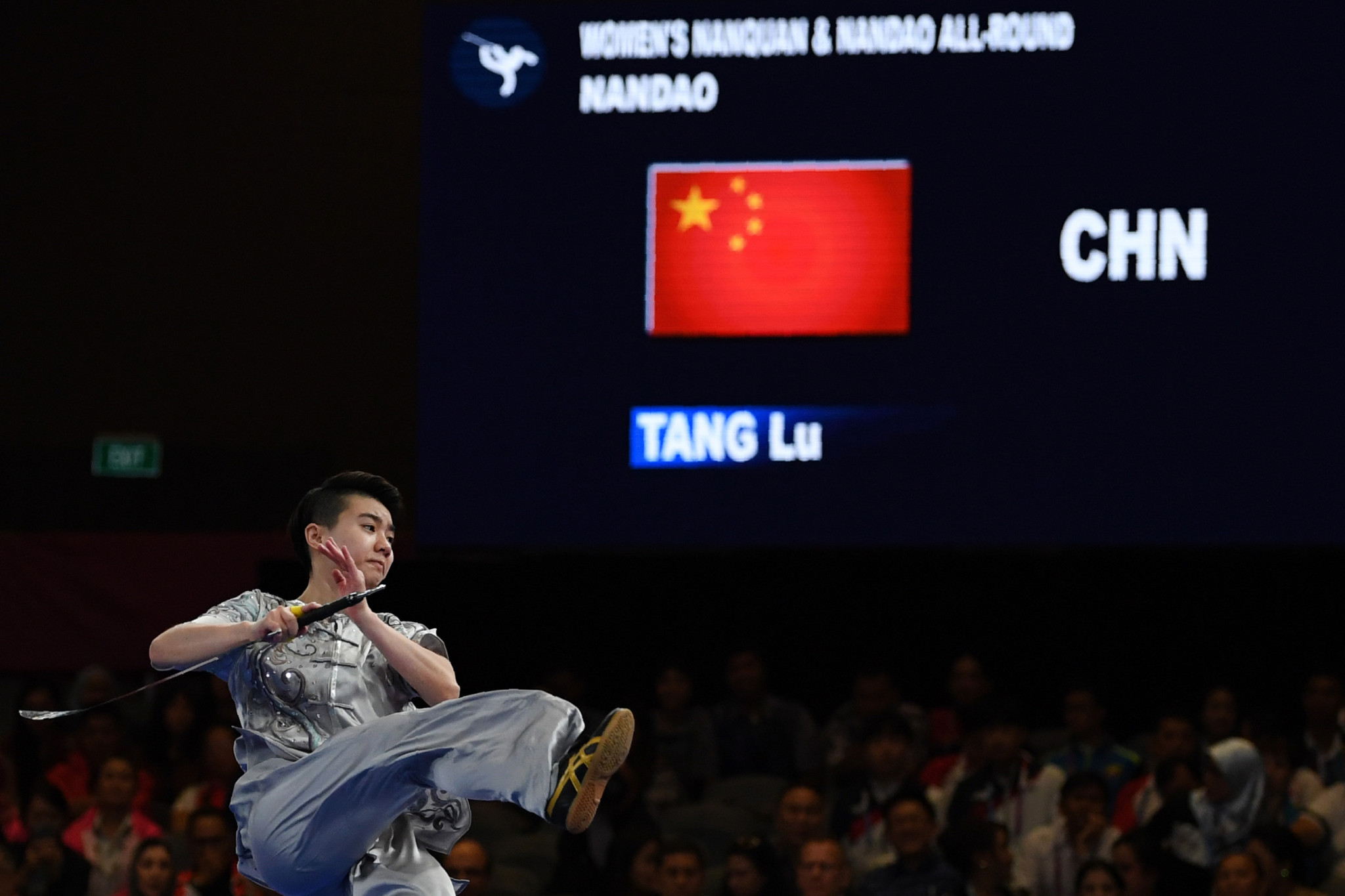 China's Lu Tang wrapped up victory in the women's nanquan and nandao all-around wushu event ©Getty Images