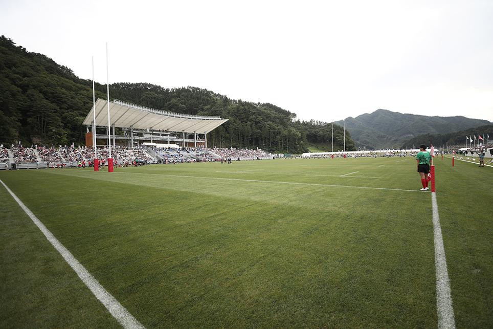 Kamaishi Recovery Memorial Stadium built for the 2019 Rugby World Cup has opened with a special ceremony ©World Rugby