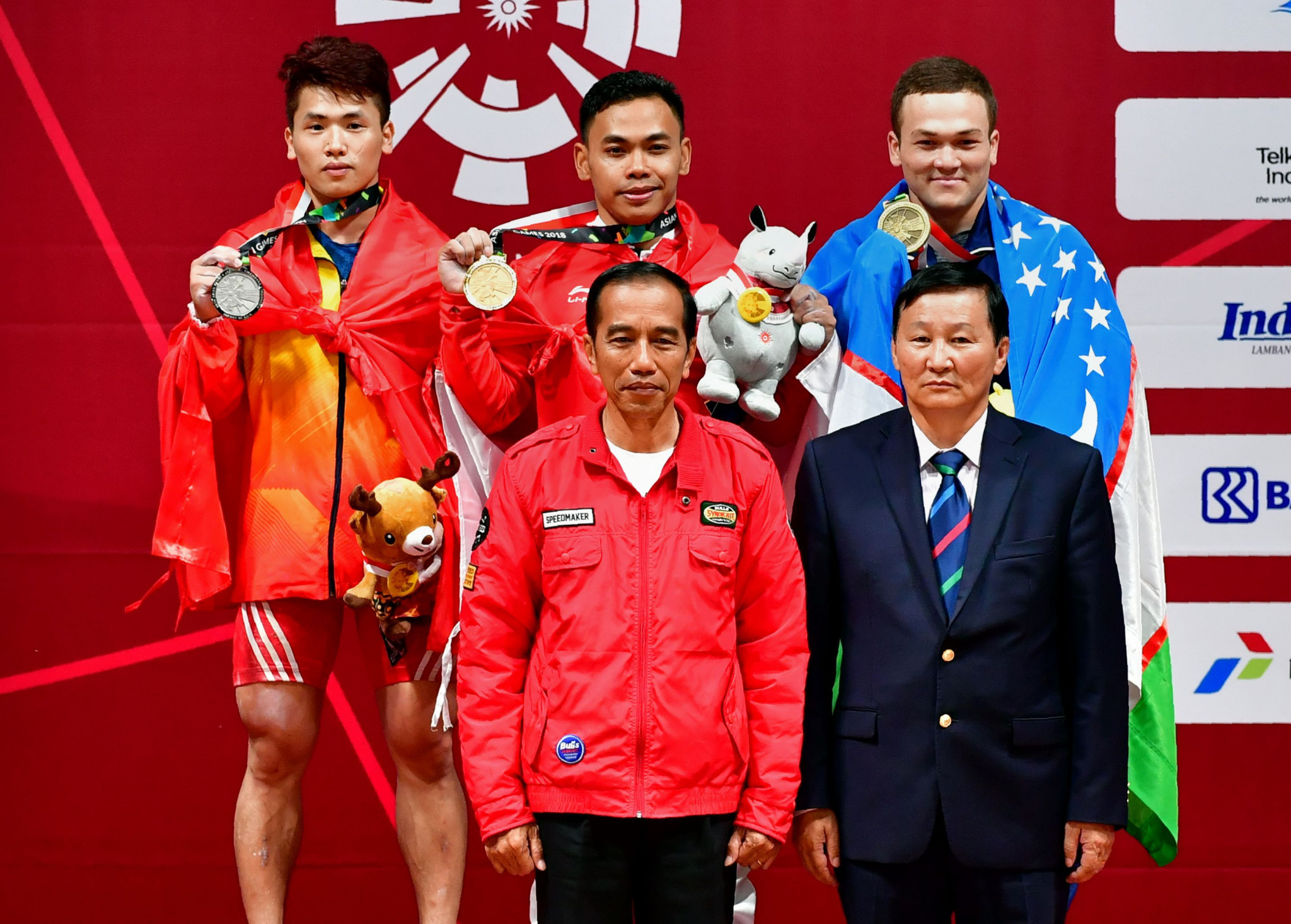 Indonesia President watches on as home favourite Irawan claims weightlifting gold at 2018 Asian Games