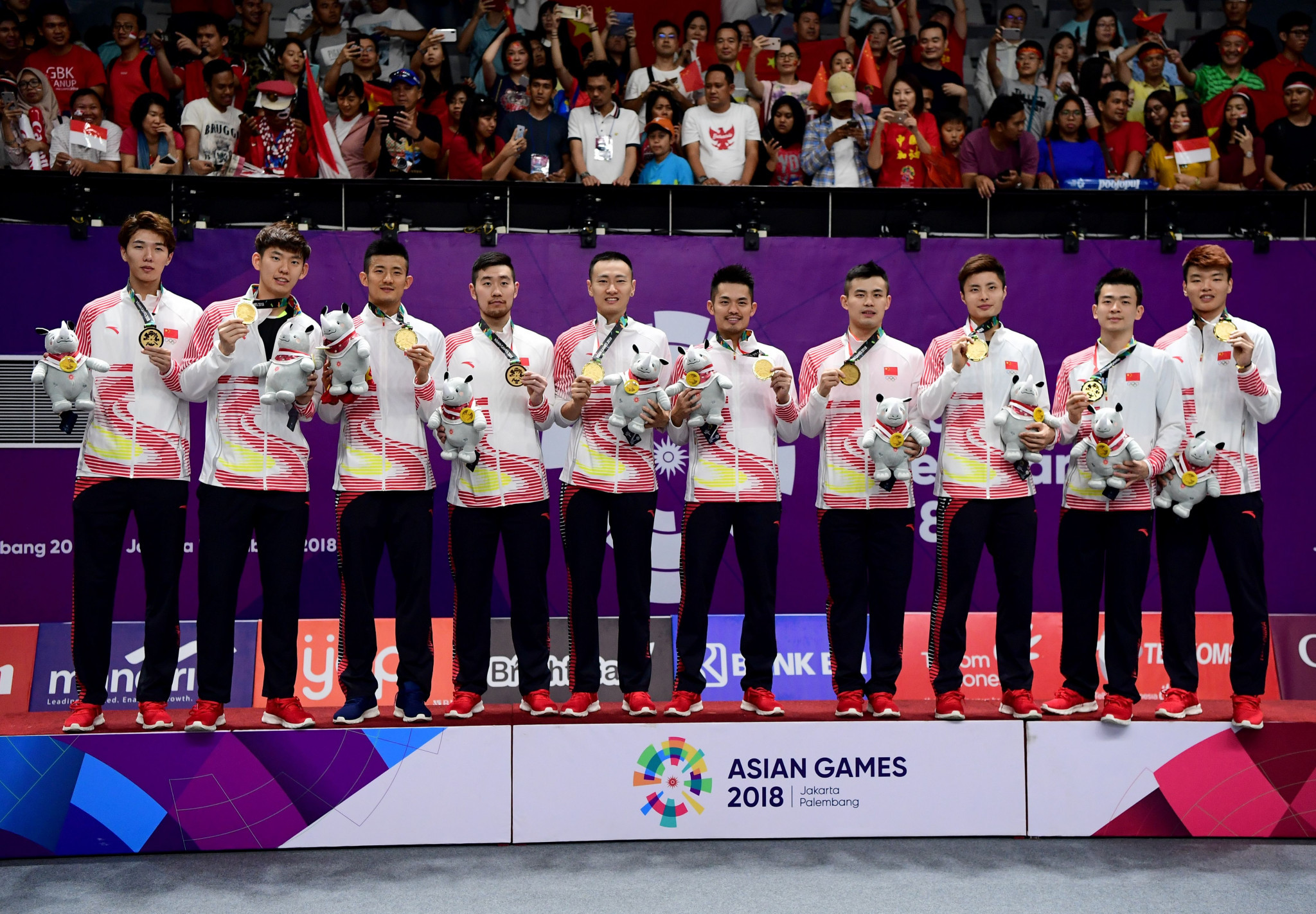 China beat hosts Indonesia in hard-fought men's team badminton final at 2018 Asian Games