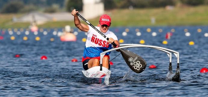 Russia's Larisa Volik defended her VL3 Paracanoe world title ©ICF