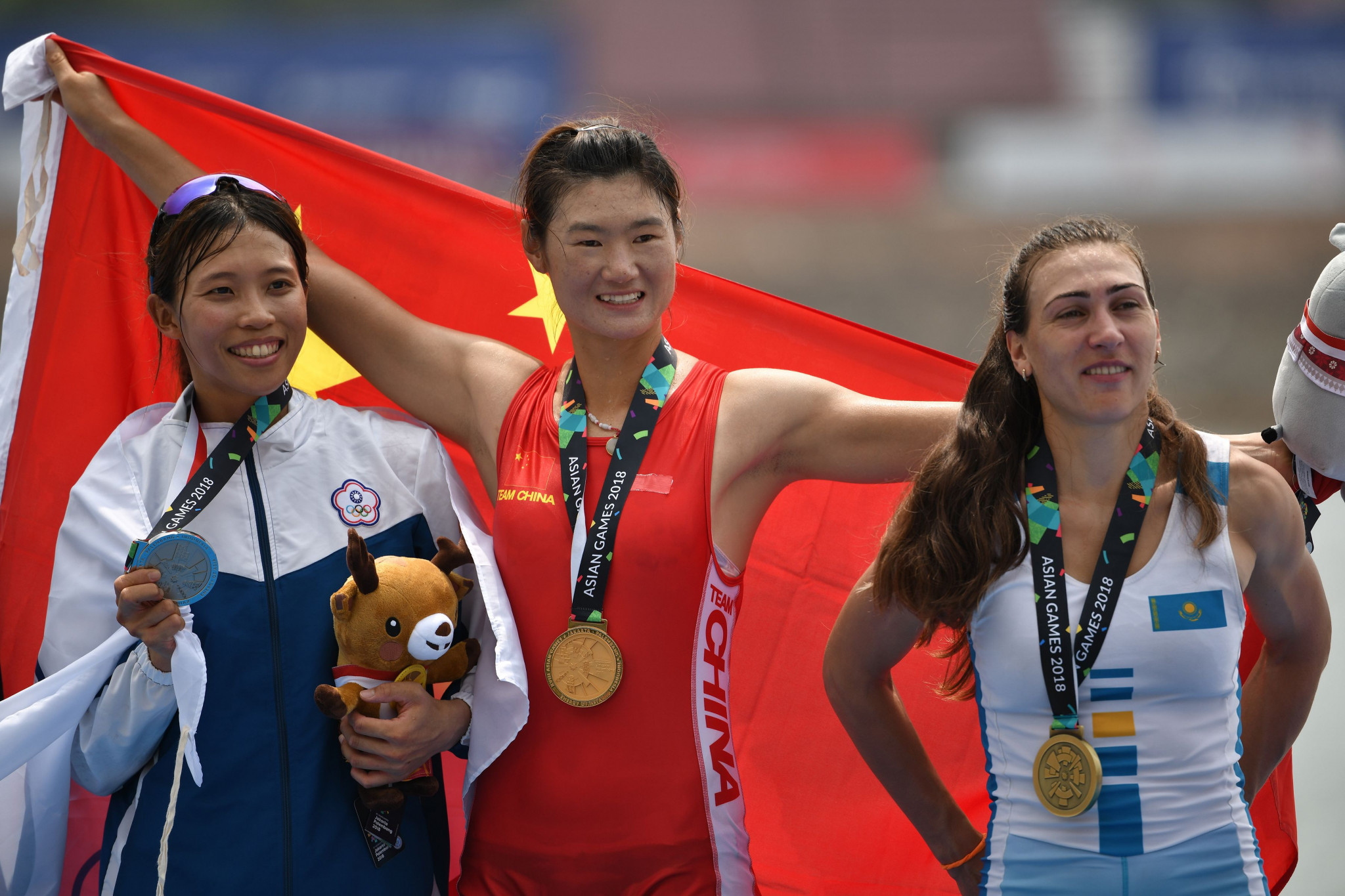 China dominate first day of rowing medal action as competition continues at 2018 Asian Games