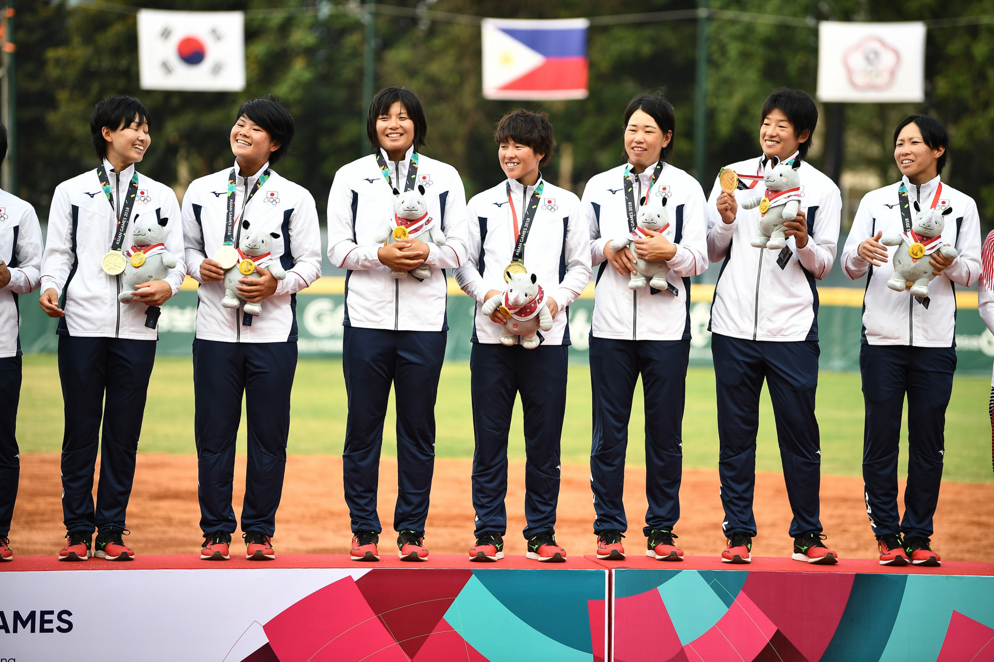 Japan claim fifth consecutive women's team softball title at Asian Games