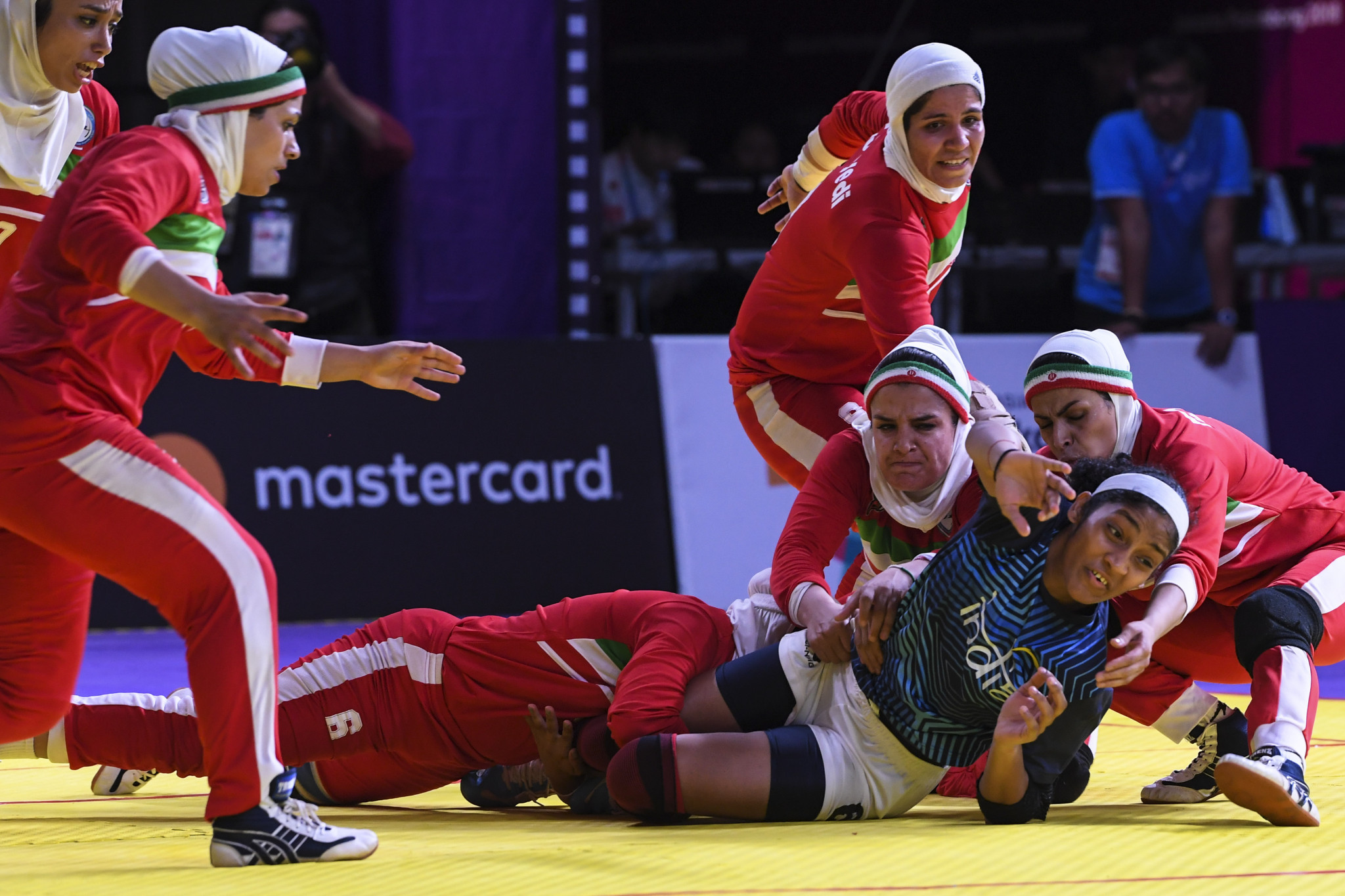 Iran beat India in the women's kabaddi final to end the latter's eight year reign at the top of the sport in Asia ©Getty Images