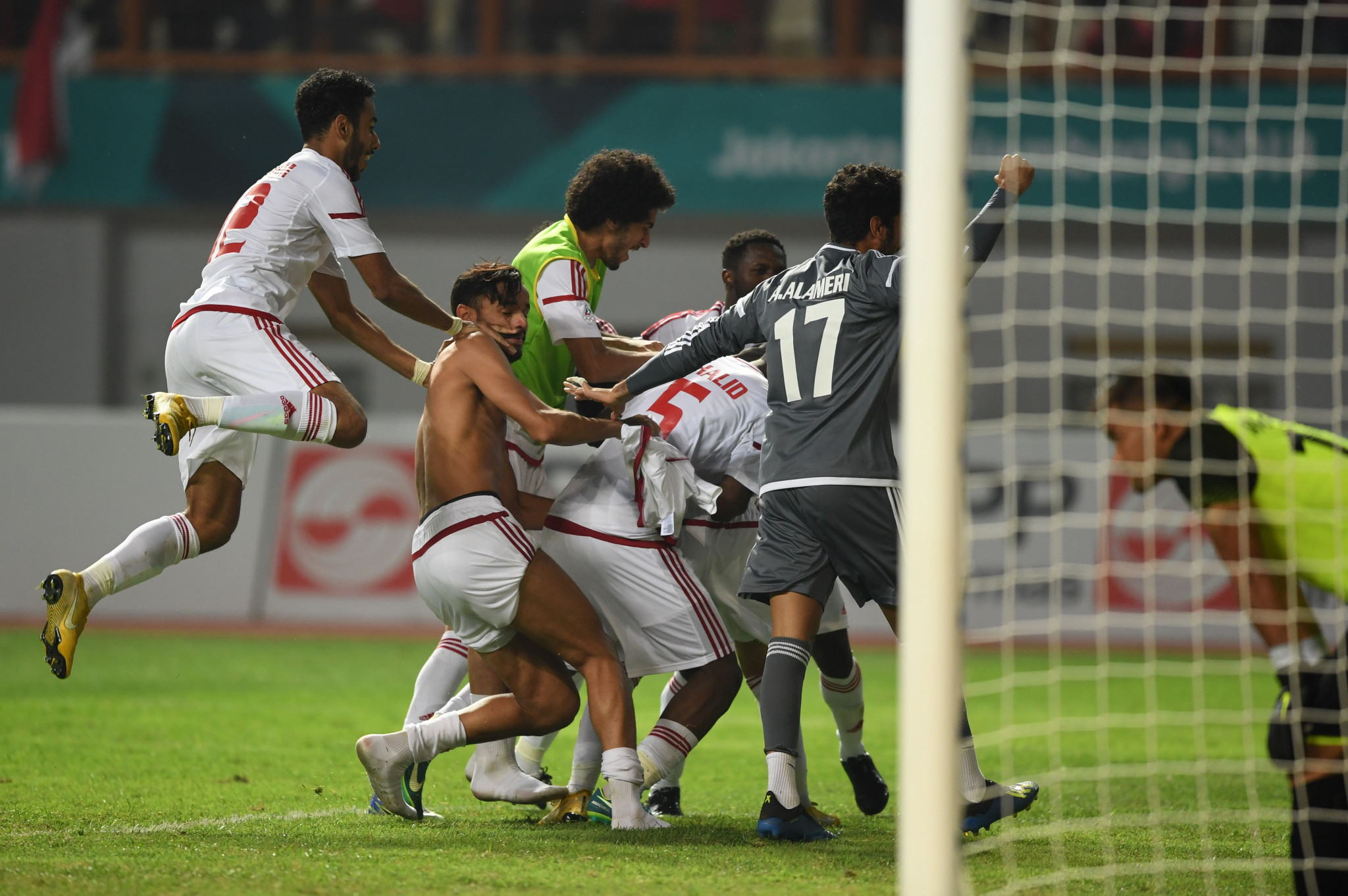 The United Arab Emirates knocked hosts Indonesia out of the men's football today on penalities, in a highly dramatic round of 16 tie ©Getty Images