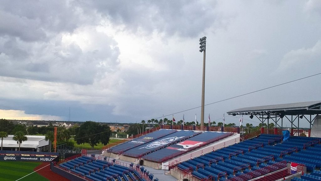 Weather alerts, and storms, in Florida caused two matches to be held over at the Women's Baseball World Cup ©WBSC