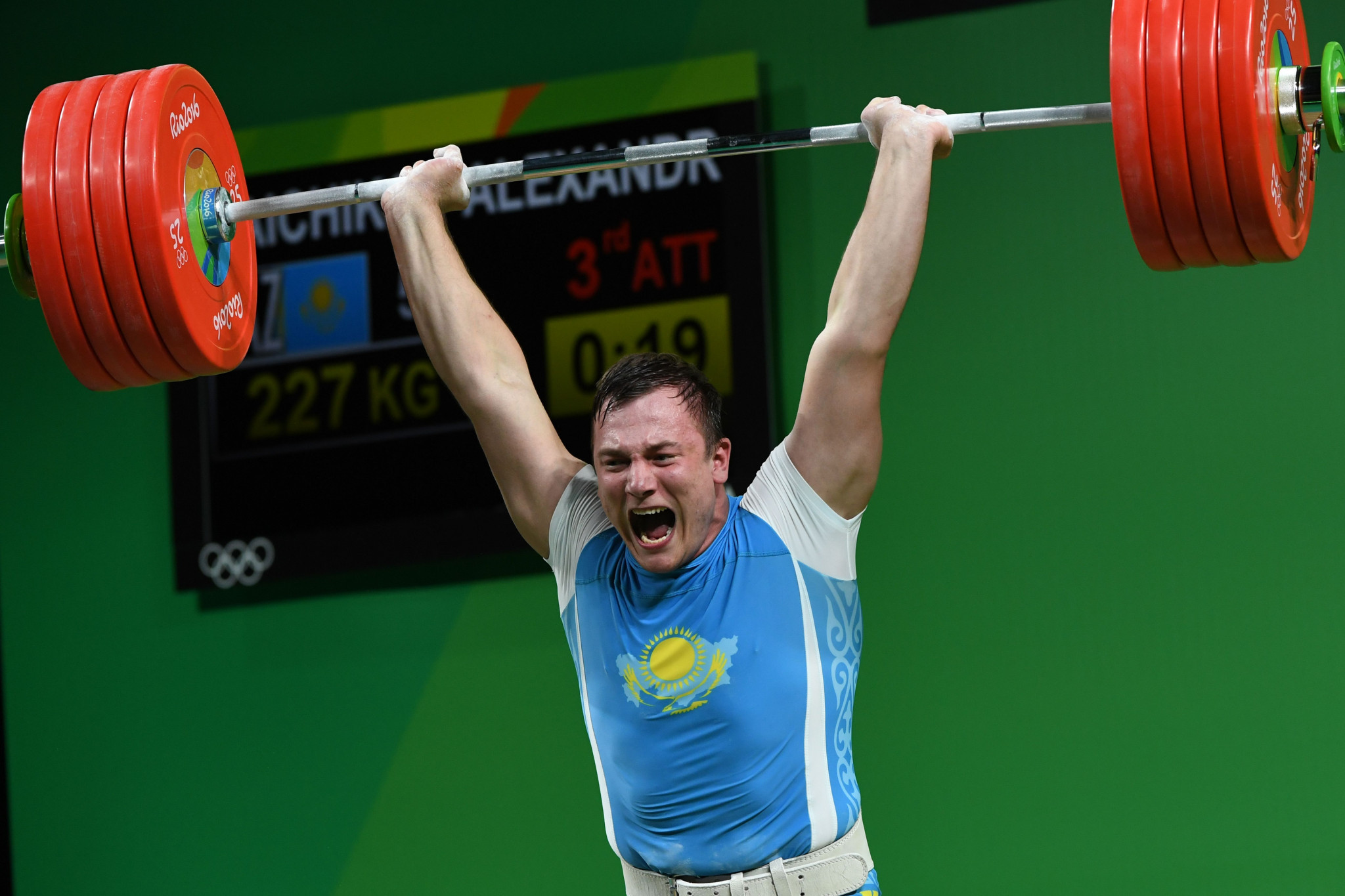 Alexandr Zaichikov, a 2015 world champion and 2016 Olympic bronze medallist, is another high profile Kazakh weightlifter to have served a drugs ban ©Getty Images
