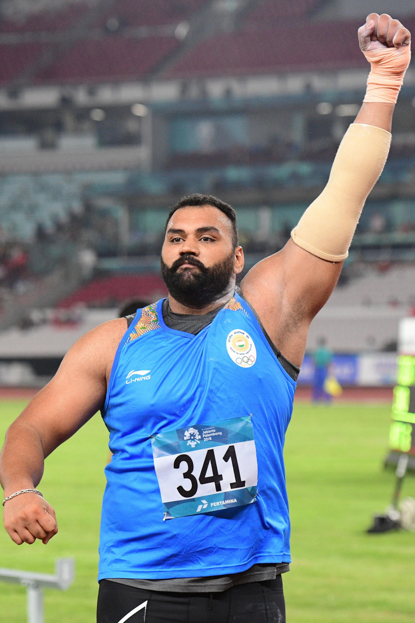 India's Tajinderpal Singh Toor won the men's shot put with a Games record ©Getty Images