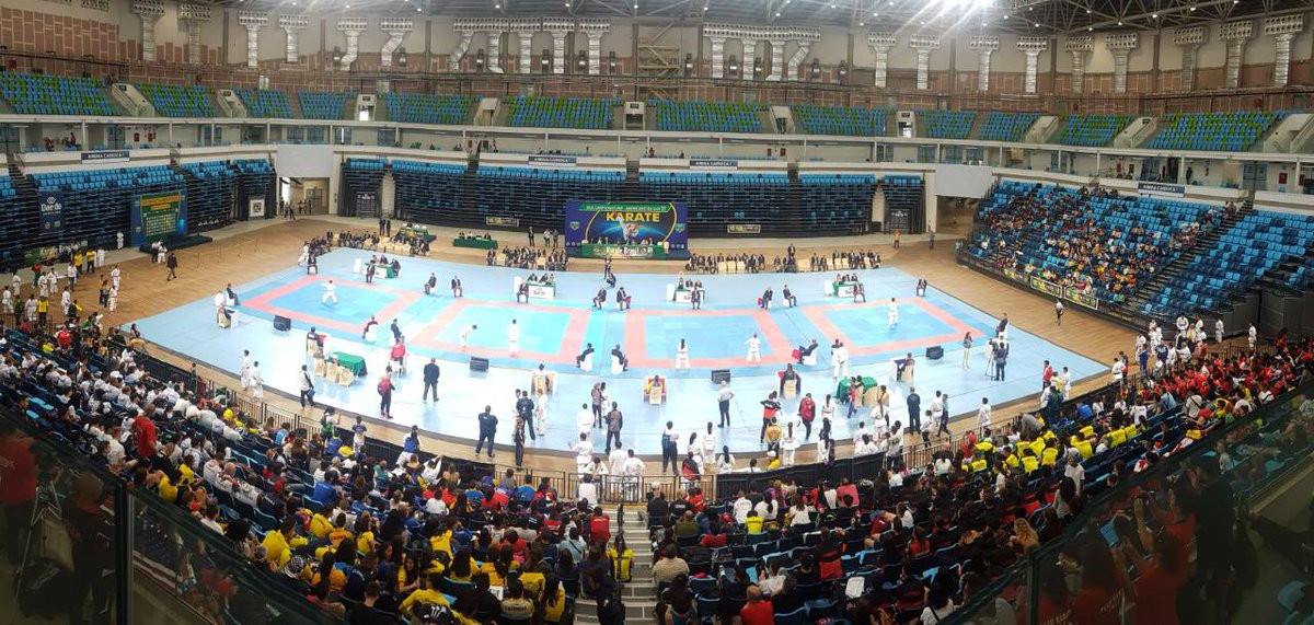 Hosts Brazil dominated proceedings on the final day of the Pan American Karate Federation Junior, Cadet and Under-21 Championships ©Twitter