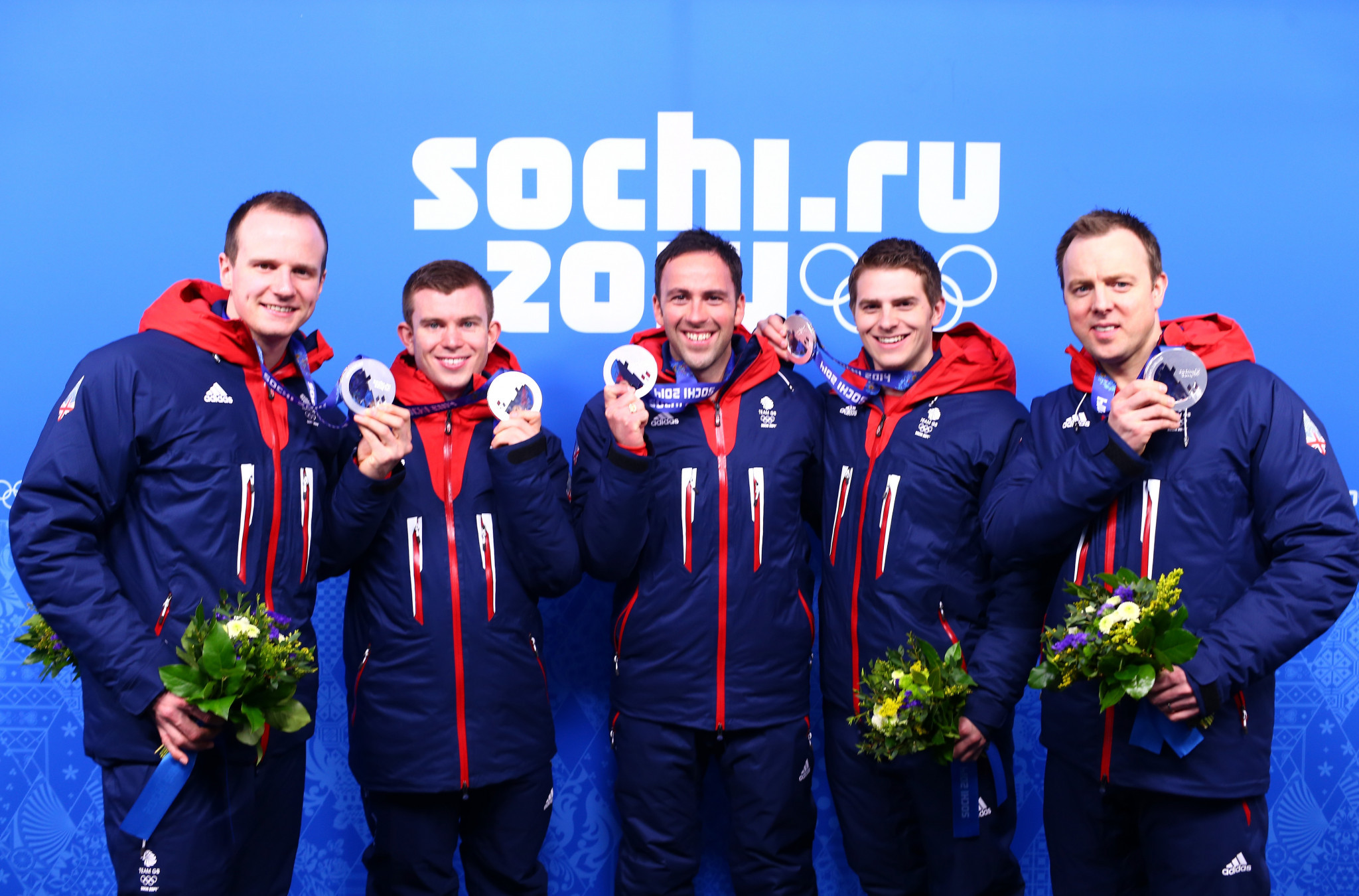 David Murdoch, centre, led his team to silver at the Sochi 2014 Winter Olympics ©Getty Images