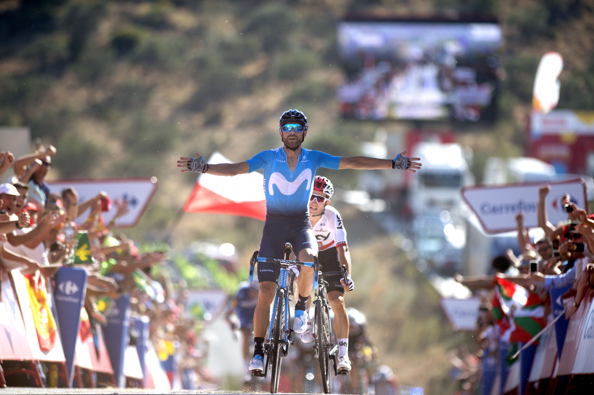 Alejandro Valverde claimed victory on the second stage of the Vuelta a España ©Getty Images