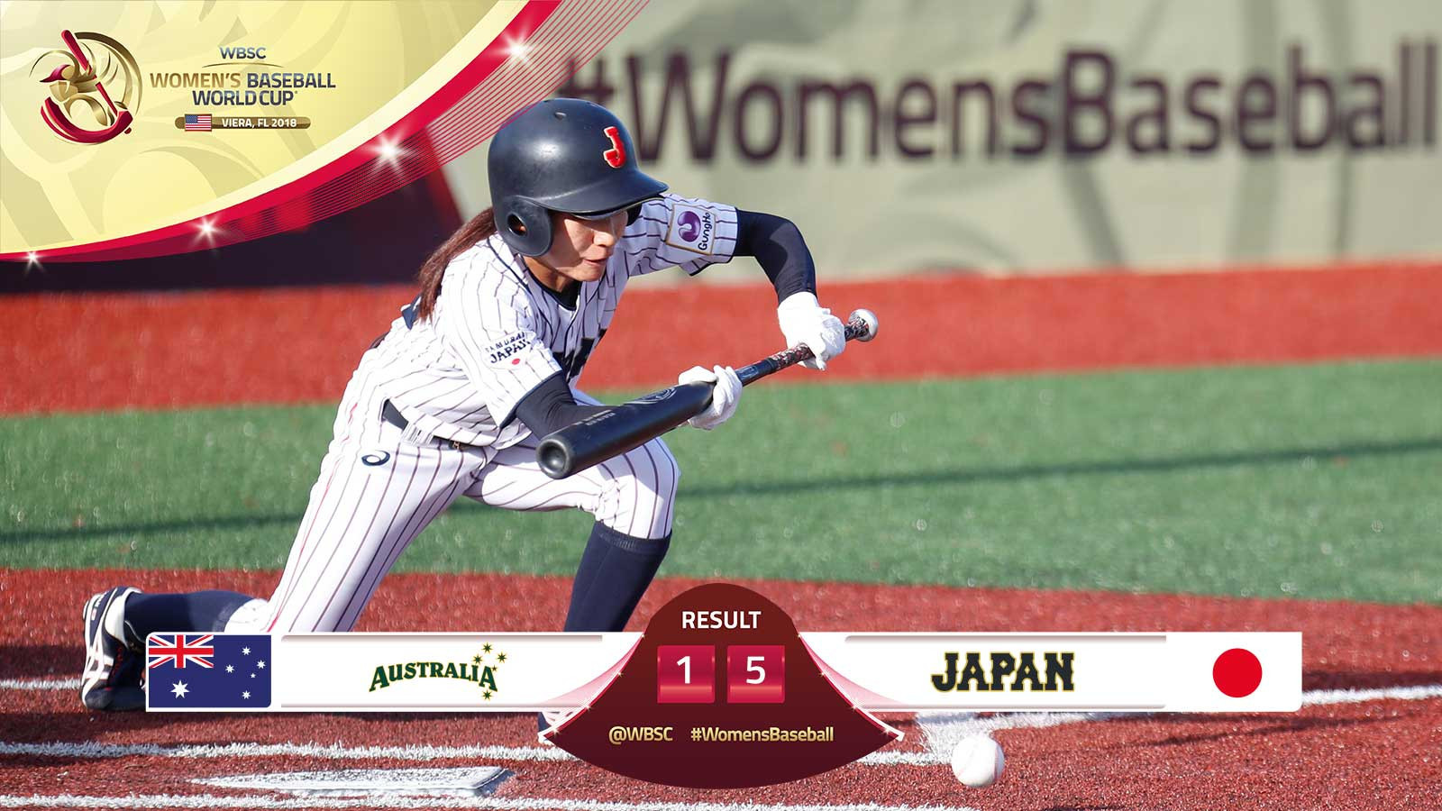 Japan's win over Australia sends them through and Australia home ©WBSC/Facebook