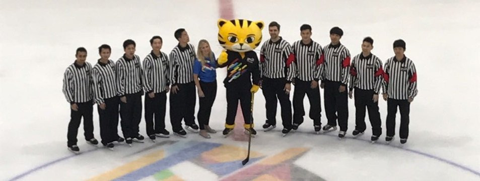 Malaysia's first full size ice rink debuted last year at the Southeast Asian Games ©Ice Hockey UK/Twitter