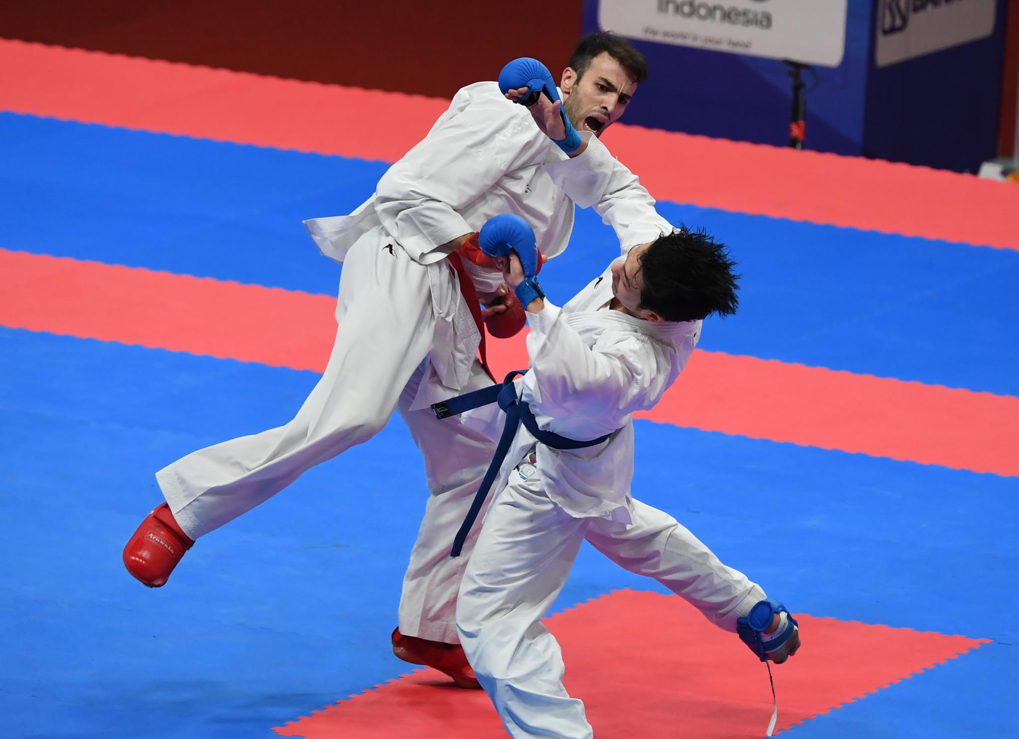 Iran's Bahman Asgari Ghoncheh won the men's under-75kg karate final by ippon ©Getty Images