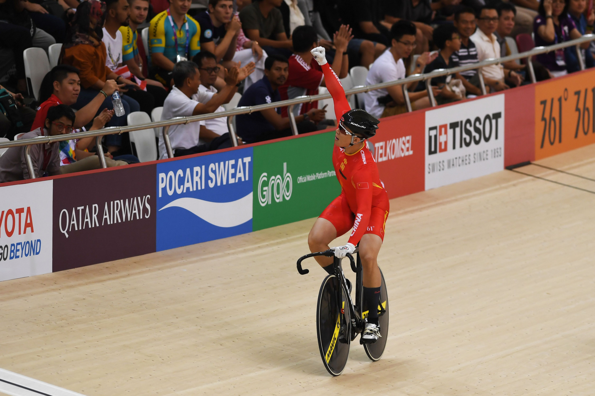 China won the first track cycling gold of the Games in the men's team sprint, as Japan set a Games record to take bronze ©Getty Images