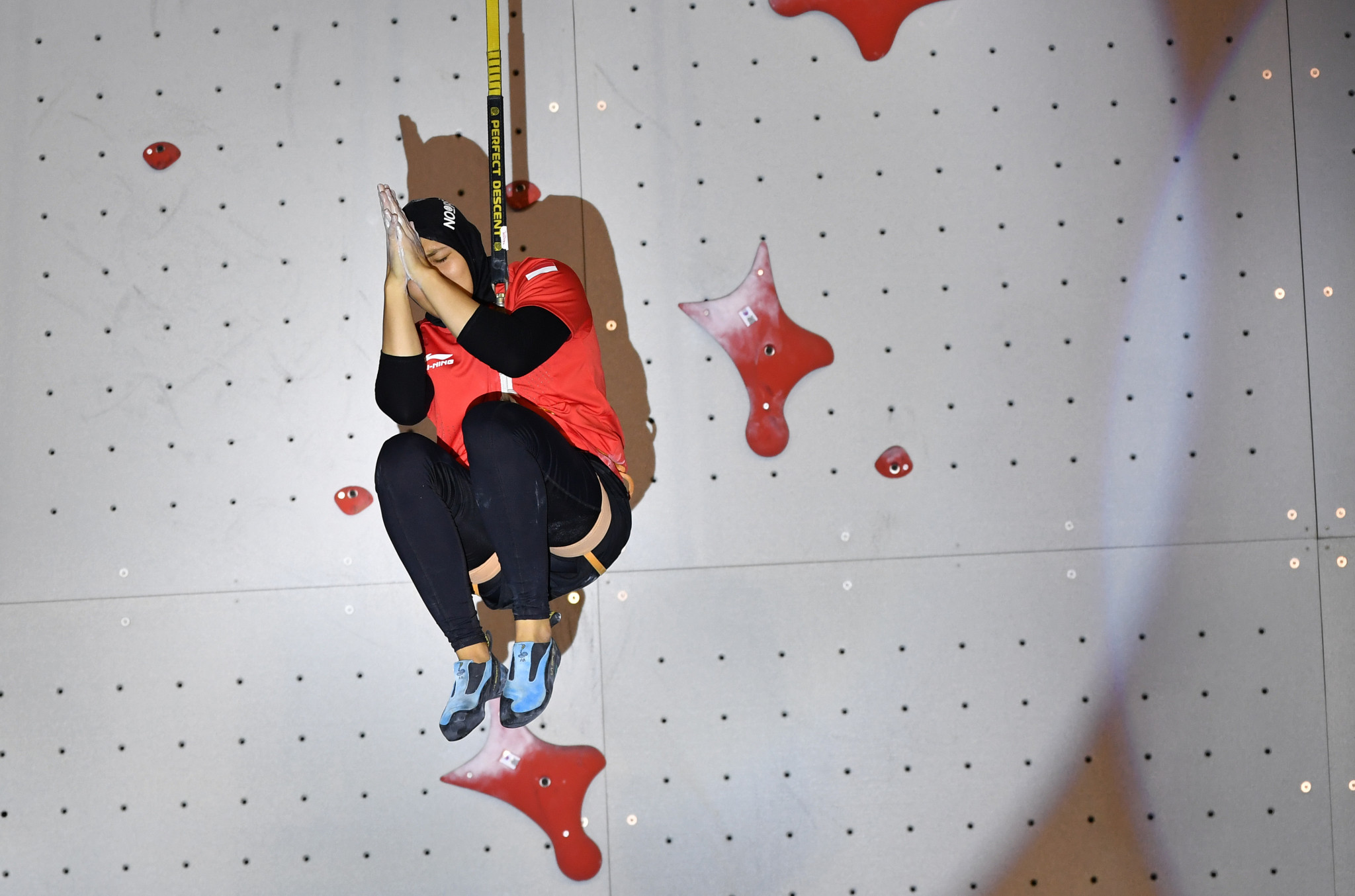 Indonesia won both the men's and women's speed relay finals in sport climbing ©Getty Images