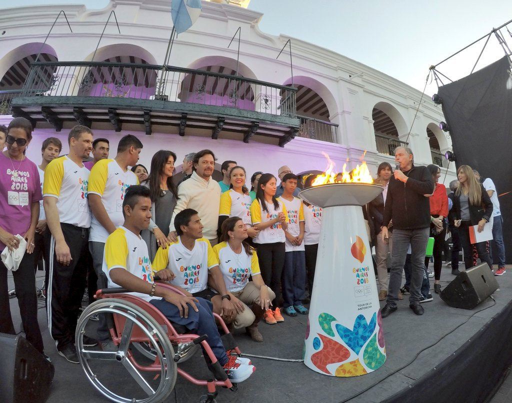 The Youth Olympic Torch continues to travel around the country before the Games begin in October ©Buenos Aires 2018/Twitter