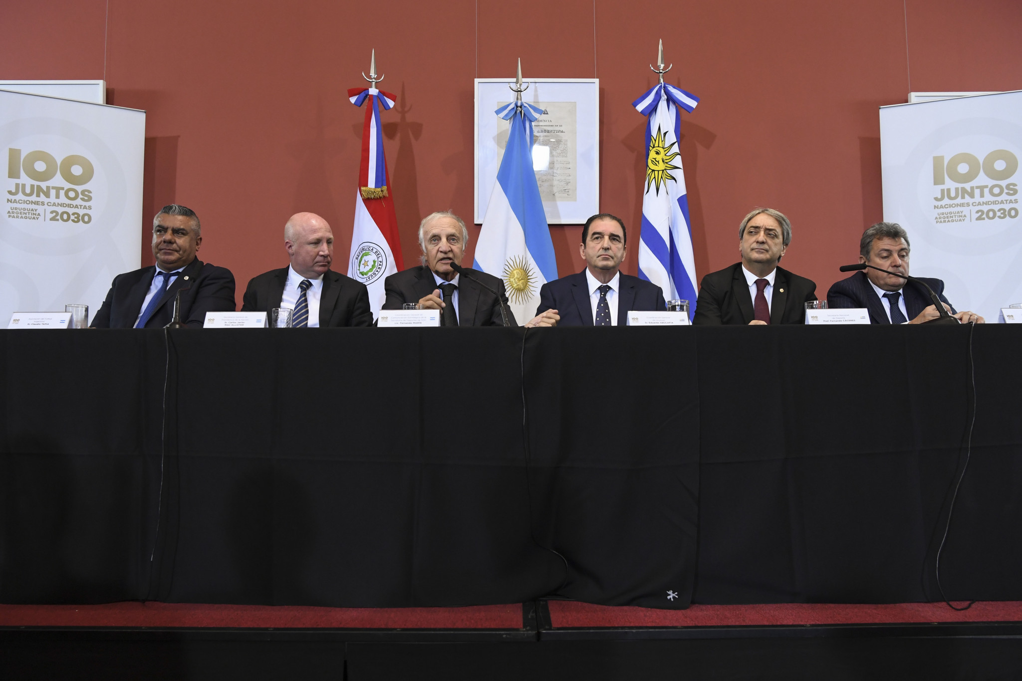 Paraguay, Argentina and Uruguay have already announced plans to bid for the 2030 FIFA World Cup as a trio ©Getty Images